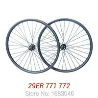 МТВ 29 ''углерода колесная, полный углерода горный велосипед колеса Hookless 29er колесная MTB 29 колесной