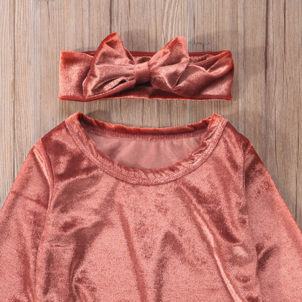 Spring Newborn Baby Girls Comfortable Sweet Sweatshirt Outfits Cloths Velvet Tops+Pants Holiday Casual Party Set 0-24M