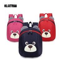 OLGITUM 2017 Anti Lost Kids Baby Bag Cute Animal Dog Children Kindergarten Bear School Bag