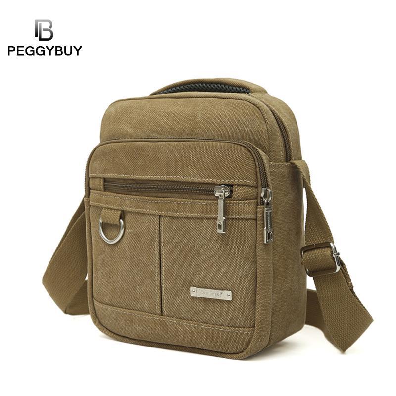 Men's Fashion Travel Cool Canvas Bag Men Messenger Crossbody Bags Bolsa Feminina Shoulder Bags Casual Portable Pack Dropshipping