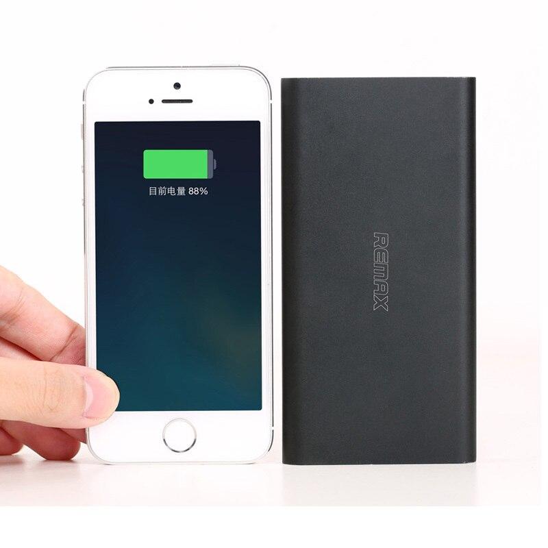 Remax real del banco de potencia 10000 mah usb móvil de reserva externa powerban