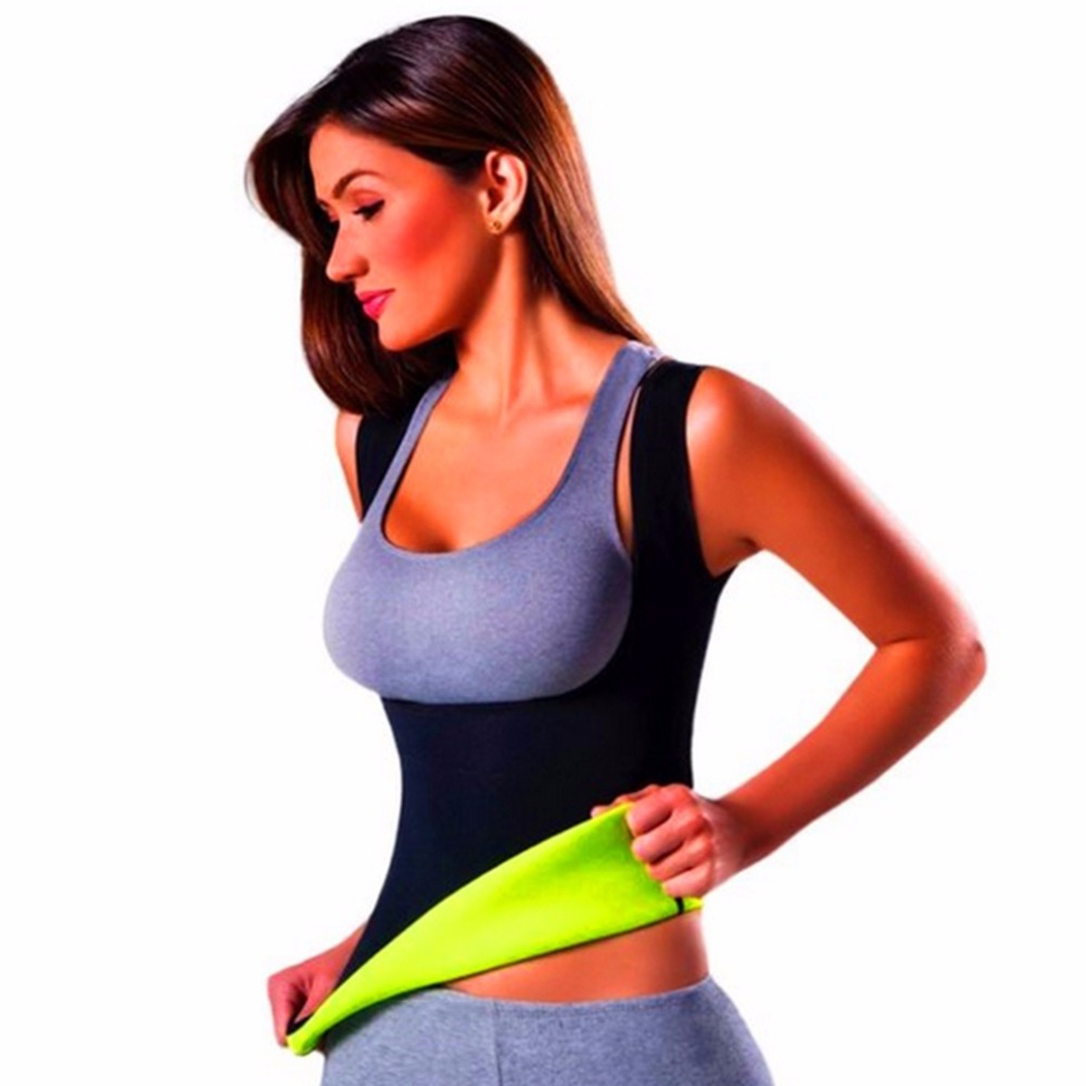 Plus Size Neoprene Sweat Sauna Hot Body Shapers Vest Waist Trainer Slimming Vest Shaperwear Weight Loss Waist Corset Drop Ship