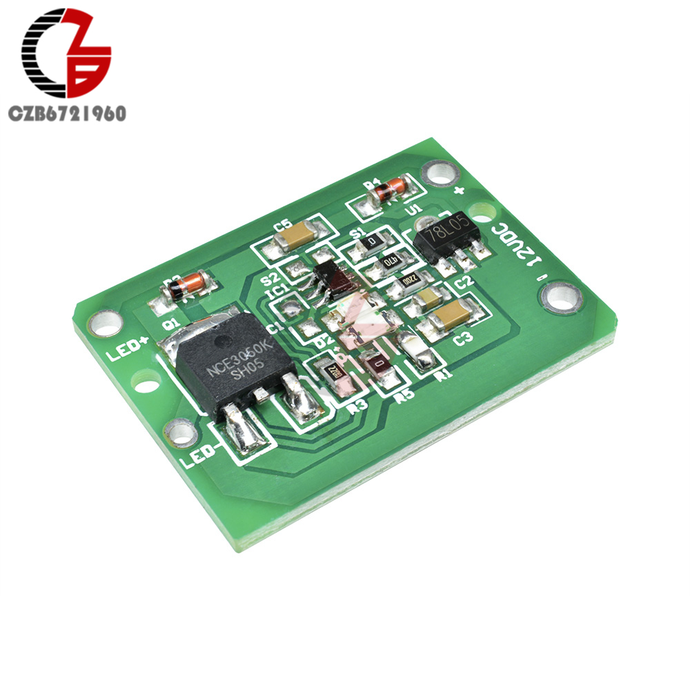 DC 6-20V Touch Sensor Module Adjustable Latch Capacitive Touch Switch Sensor Baord 12V For Kitchen Bathroom Light Strip Dimmer