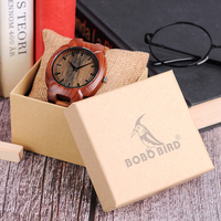 Original Factory BOBO BIRD Retro Wood Watches Men Leather Bracelet Watch Private Label Crab Shaped Saati