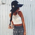 Mulheres Sexy Crochê Topos Das Culturas de Verão Beachwear Escavar Cinta Tanque Colete Tops Halter Camis Camisole 10