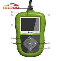 100% 원래 JDiag JD201 코드 리더 JDiag JD-201 코드 스캐너 JD 201 녹색 OBD 연결 무료 배송