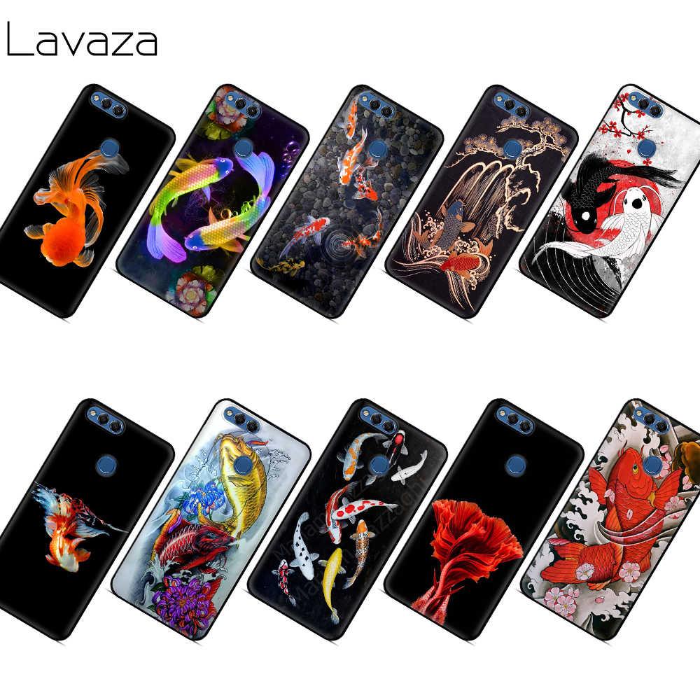 Lavaza 日本のラッキー魚のケースについては名誉メイト 10 20S 6A 7A 7C 7X 8A 8C 8 × 9 p9 Lite プロ Y6 Y7 Y9 プライム