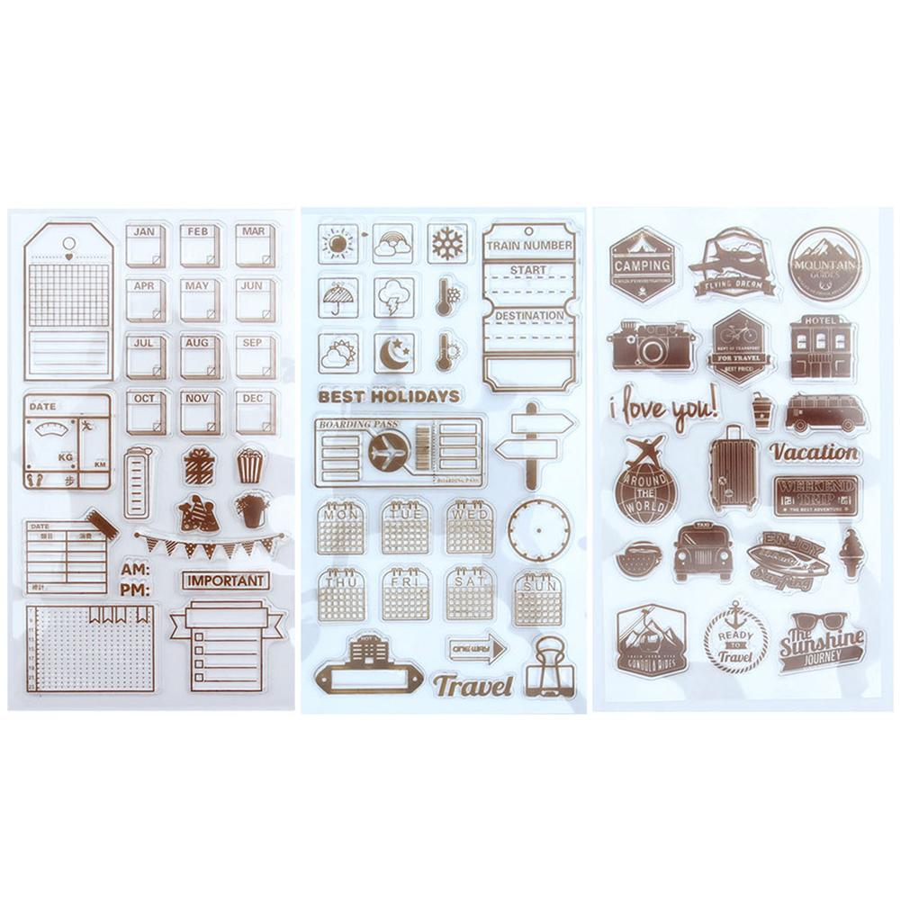 Diy Scrapbook Transparent Clear Stamp Photo Album Card Rubber Stamps Expression Expression Dairy Travel Planning Bright In Colour Office & School Supplies