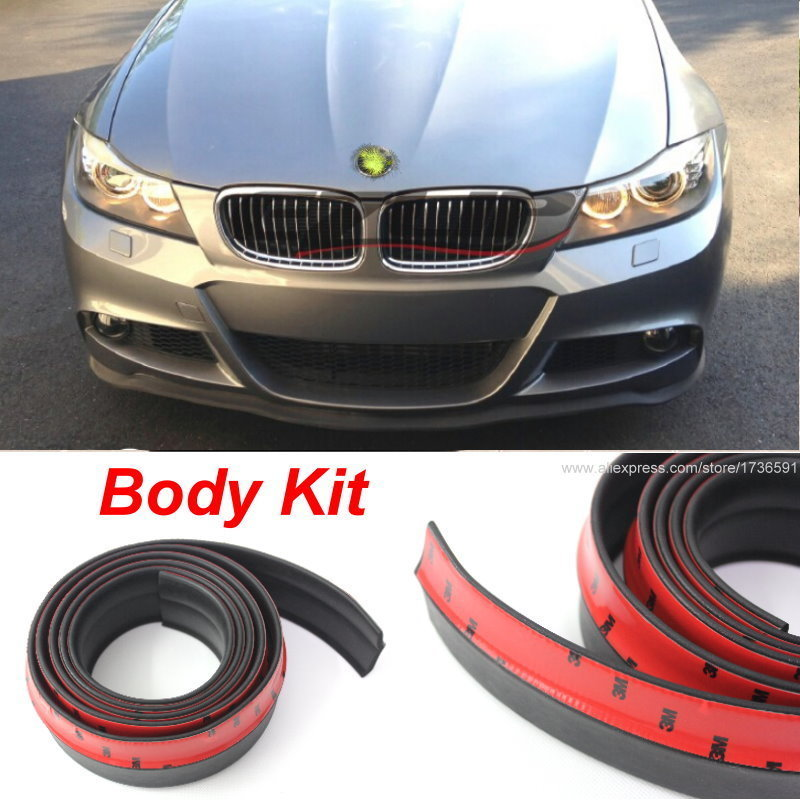 Body Front Side Back Bumper Spoilers Lip Lips For BMW E46 E90 E39 F30 F10 E36 E60 X5 E53 F20 E34 / Body Chassis Side Protection цены