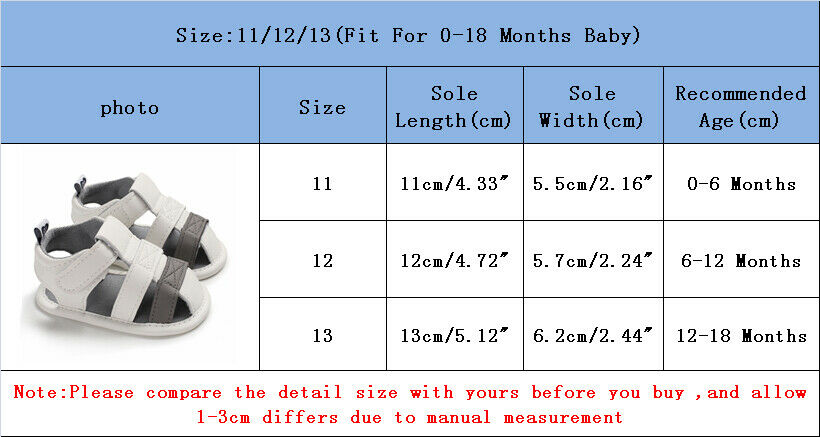 Summer Shoes Newborn Infant Baby Girl Boy Kids Crib Shoes First Walkers 0-18M