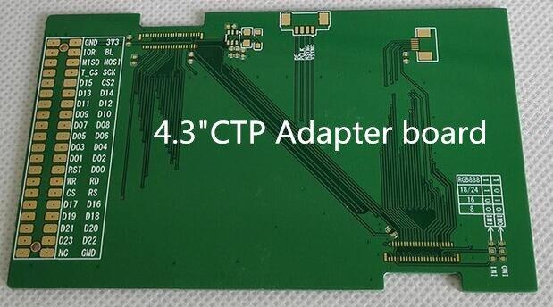 Videospiele Unterhaltungselektronik Adapter Bord Basis Pcb Gelten 4,3 Zoll Lcd Kapazitiven Touch Panel Modul Eine VollstäNdige Palette Von Spezifikationen