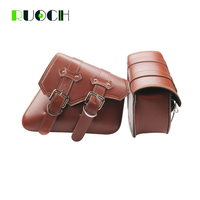 Universal Motorcycle Saddle Bag Side Bags Leather Motorbike Side Tool for Indian Roadmaster Scout Sixty Chief Vintage Dark Horse
