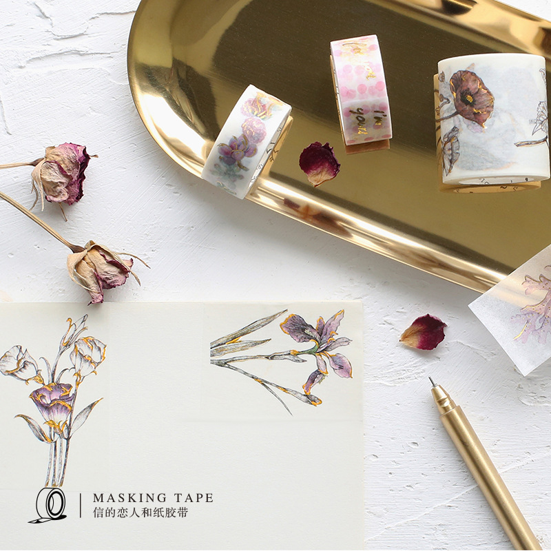 8 Styles Gold Foil Gild Washi Tape Japanese Cute DIY Decorative Sticker Scrapbooking Diary Planner Notebook Masking Tape купить