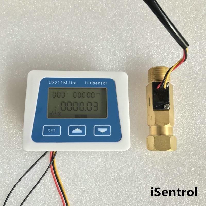 US211M Lite USC HS21TF 1 30L min Digital Flow Meter 5V Flow Reader Compatible with all