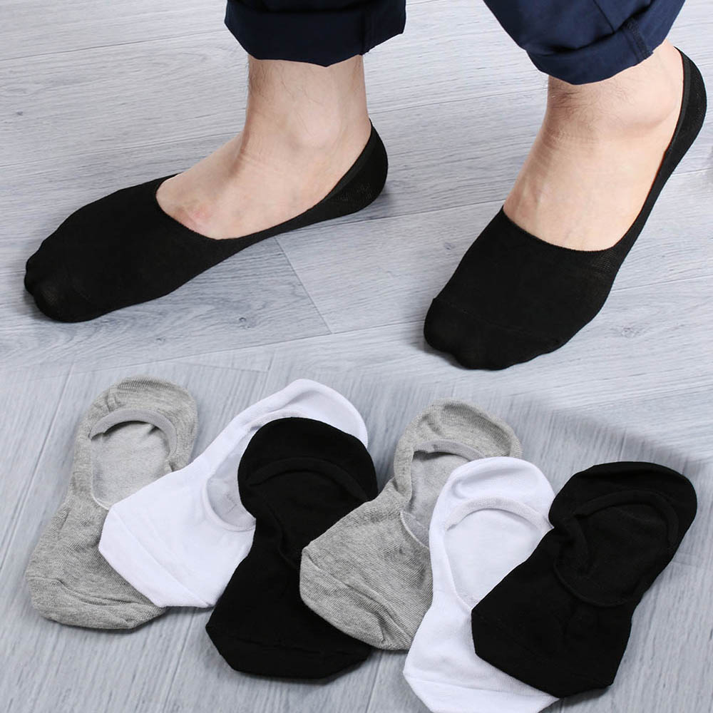 1Pair Unisex Casual Comfortable Boat Socks Non-Slip Invisible Loafer Soft Low Cut Cotton Socking 5 Colors Clothing Accessories