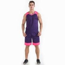 2017 Sports suit, men's summer vest, shorts, basketball clothes, gym, jogging, leisure sports wearViolet