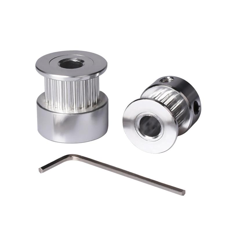 GT2 Timing Pulley 20 teeth Alumium Bore 5mm fit for GT2 belt Width 6mm RepRap 3D Printer part