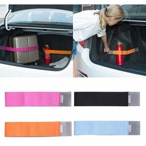 Image 1 - 1 adet 40/60/80cm Evrensel Araba Gövde Elastik Çıkartmalar Içeriği Çantası Depolama Ağı Organizatör Stowing Tidying kayış araba styling C45