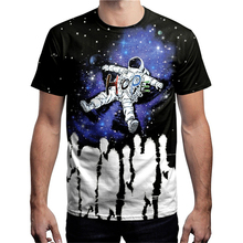 Explore The Space T Shirts Men Astronaut 2019 HOPE Tops Tees Short Funny T-shirts Mans Black Casual Galaxy Shirt Boys