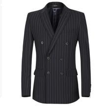 Костюм костюм отдыха куртка красавец двубортный пальто полосой друзья партия заказ сделать лацканы мужчины blazer