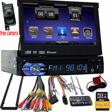 Free camera+single din radio car dvd player gps navigation tape recorder autoradio cassette player for car radio steering-wheel