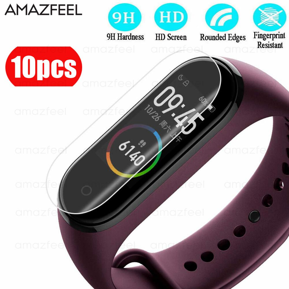 Screen-Protector-Film Smart Wristband Not-Tempered-Glass Xiaomi 4-Bracelet