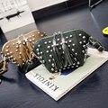 Las mujeres de la pu bolso del shouler de cuero Pequeñas Bolsas Crossbody para Niñas Bolsa de Mensajero de Las Mujeres remache Borla bolso de Hombro bolsas XD3905