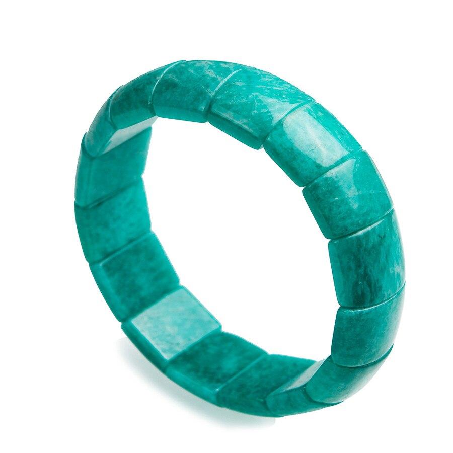 Women Stretch Charm Bracelets Recgangle Beads Jewelry Genuine Green Amazonite Natural Stone Bracelet Free ShippingWomen Stretch Charm Bracelets Recgangle Beads Jewelry Genuine Green Amazonite Natural Stone Bracelet Free Shipping