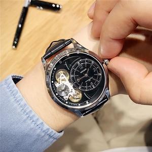 Image 3 - MEGIR Original Men Watch Top Brand Luxury Quartz Watches Relogio Masculino Leather Military Watch Clock Men Erkek Kol Saati 2017