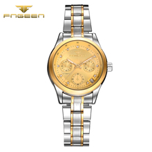 FNGEEN Ladies Automatic waterproof wristwatch Fashion woman Mechanical Watch top quality women famous datejust clock vintage
