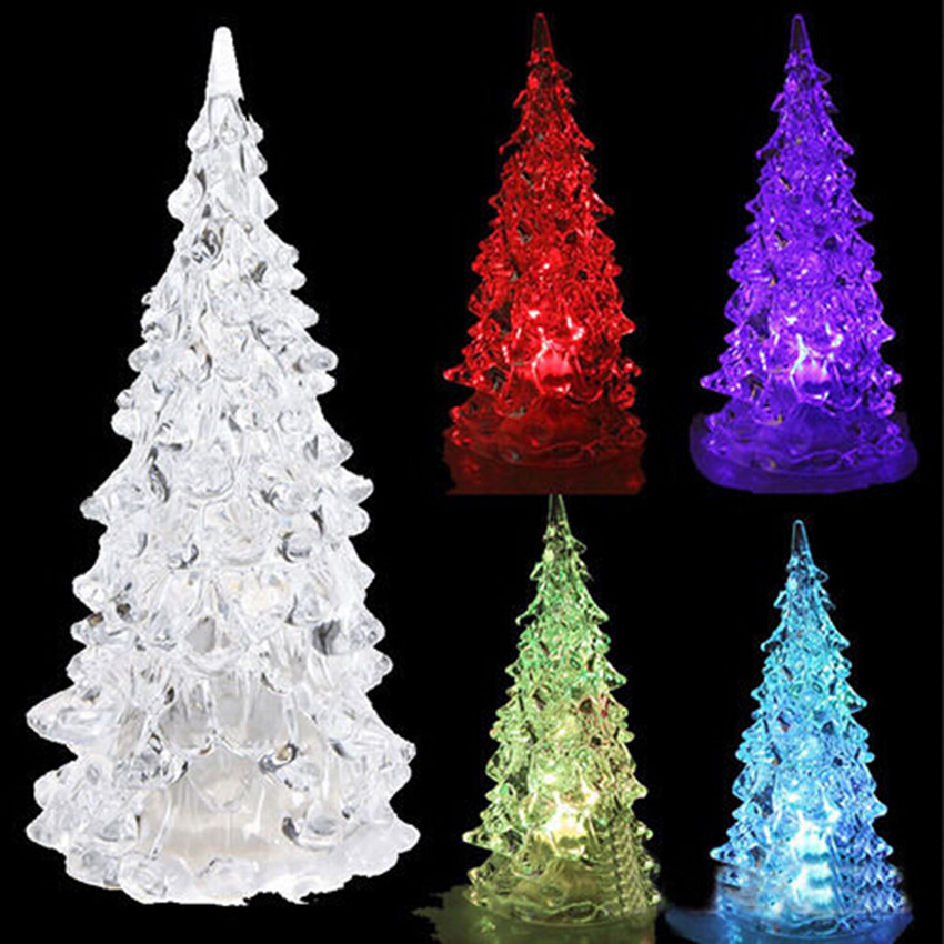 Hot Por Christmas Tree Shape Sleep Night Colorful Flashing Light Up Toys For X Mas Party In From Hobbies On Aliexpress