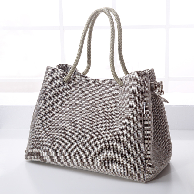 Aliexpress.com : Buy Casual Linen handbag Women Business Fashion ...