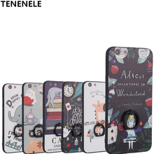 TENENELE Case For OPPO A59 F1S Fashion Silicone Cartoon 3D Relief Cover Case With Finger Ring Coque Funda Capa A59 F1S Case