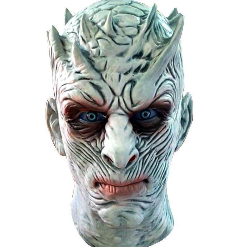 Game of Thrones Season 7 Night's King White Walkers Men Full Head Undead Mask