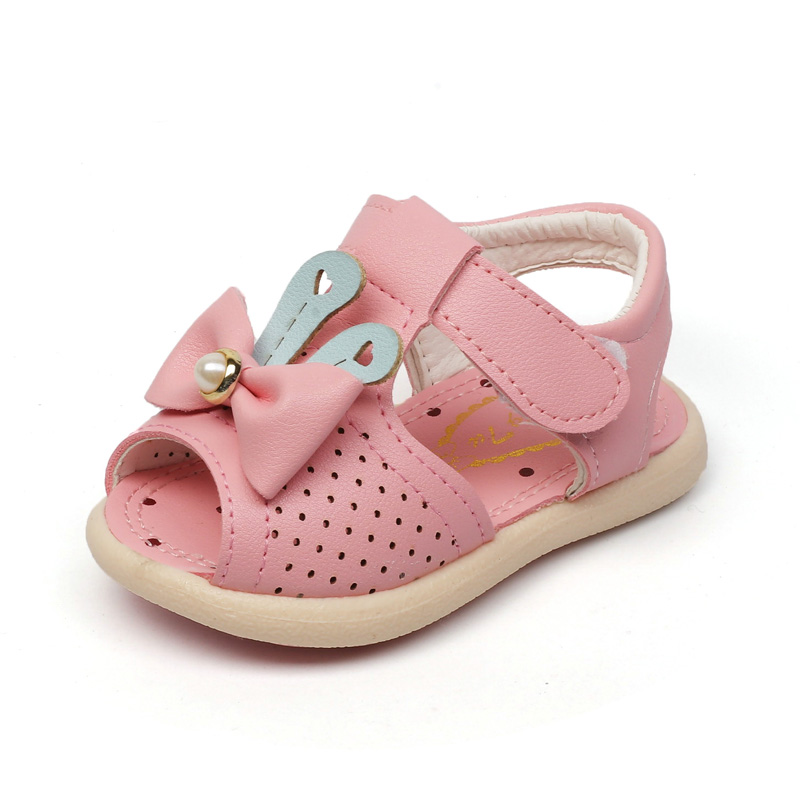 Baby Sandals For Girls Summer Shoes Cute Toddler Shoes With Bow Kids Baby Princess Shoes ...