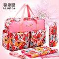 4 PCS/SET 2016 Baby Nappy Bags Diaper Bag Mother Shoulder Bag Fashion Maternity Mummy Handbag Waterproof Baby Stroller Bag NEW