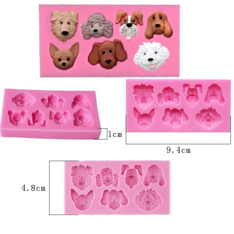 Kitchen,dining & Bar Delfenfen Diy Silicone Cute Dog Cookie Mold Food-grade Plastic Fondant Cutter Buscuit Mold Sugarcraft Cake Decoration Tool