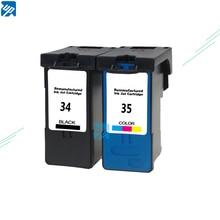 2 חבילה 34, 35 דיו עבור Lexmark X2500 X2530 X2550 X3330 X3350 X3530 X3550 מדפסת