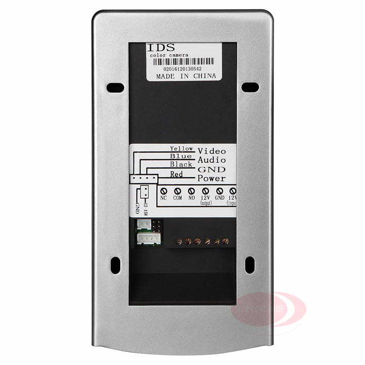 4.3 Color LCD Ip55 Waterproof Video Door phones Rfid&Password Video Intercoms+ Magnetic Lock+12V Access Control System Unit