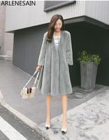 Arlenesain custom European station otter tidy import super crown velvet luxury mink coat fur coat female