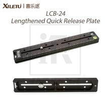 알루미늄 합금 xiletu LCB 24 길어진 퀵 릴리스 플레이트 240mm 노드 슬라이드 레일 긴 다기능 범용 클램프 익스텐더