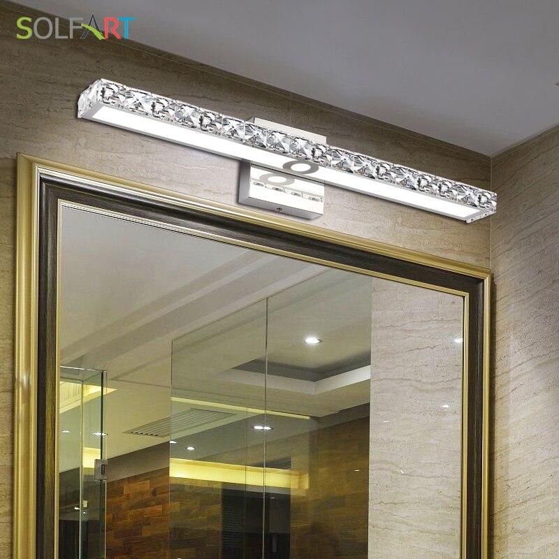 solfart lampada arandela luzes de parede do banheiro led vaidade luzes gabinete maquiagem espelho da frente