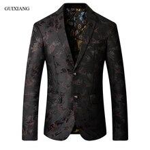 Новое поступление, мужские блейзеры в западном стиле, высокое качество, хлопок, однобортный мужской тонкий костюм, куртка, пальто, размер M-5XL