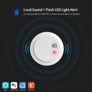 Image 2 - Lonsonho Tuya Smartlife Wifi wykrywacz tlenku węgla Co czujnik dymu inteligentny dom bezpieczeństwo inteligentna automatyka domowa