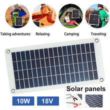 Portable 10W 18V Emergency Sun Power Supply Fast Charger Solar Light Solar Panel with Cigarette Lighter Battery Solar Cells