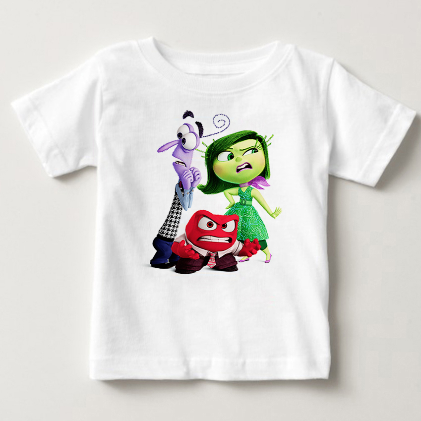 hot sale Children Clothing T Shirt Inside Out Lovely Boy Girl Clothes T-Shirt fear anger hate Cartoon Childrens clothing MJ