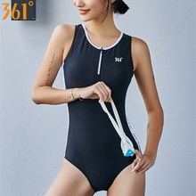361 Black Swimsuit for Women One Piece Swimwear Pool Athletic Female Swim Suit Backless Swimming Girls Bathing