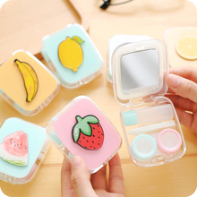 1pc Creative Contact Lens Case Student Small Fresh Cartoon Lovely Storage Box Small Plastic Box