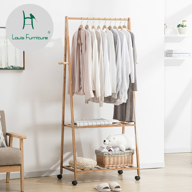 Bedroom Chair For Clothes Toddler Leather Louis Fashion Coat Racks Modern Landing Hanger Simple Mobile