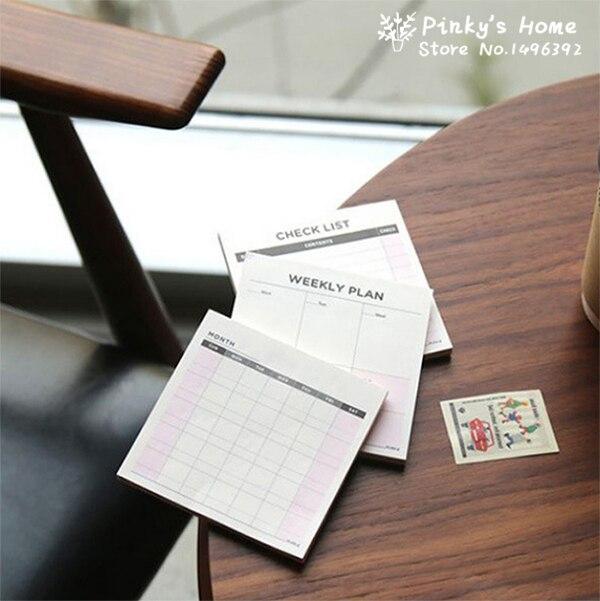 Stickers Creater Weekly Planner Muaji Planifikues Mujor Notepad Memo Portable Kontabël Kontabiliteti Desk Memo Pad Lista e Kontrollit Lista e Planifikuesit